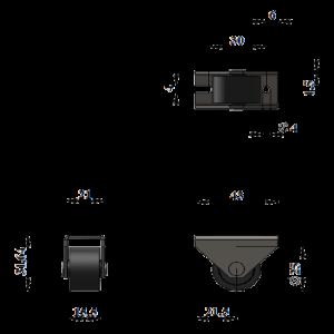 301-Опора роликовая  (Пл.колесо) / 252 шт.