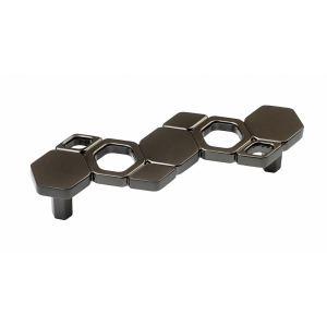 Ручка-скоба мебельная Advance, м.ц.96 мм, черный никель