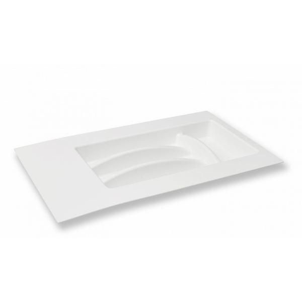Лоток для столовых приборов в ящик белый 300 мм