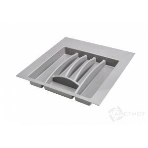 Лоток  для столовых приборов в ящик серый 500 мм