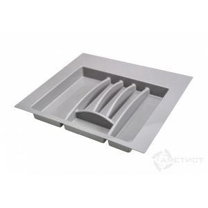 Лоток для столовых приборов в ящик серый 600 мм.