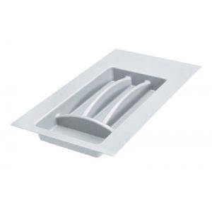 Лоток для столовых приборов в ящик серый 300 мм