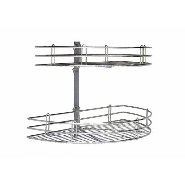 Двухуровневая полка для кухни Corner Basket