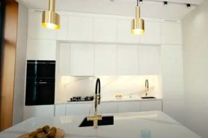 Кухня с фасадами Velluto и системой Premium Line