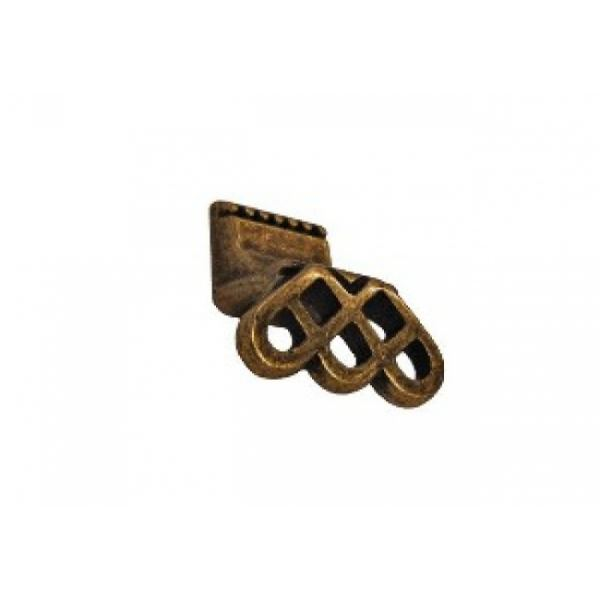 Мебельная ручка-кнопка 136 замак ант. бронза RH136Z.023BA