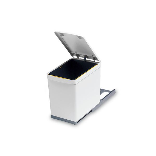280.B Ведро для мусора (16л) выдвижное, пластик белый
