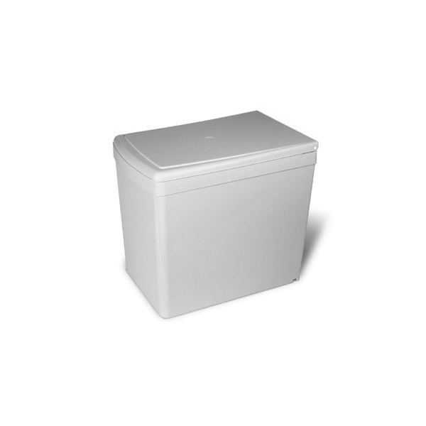 201.GC Ведро для мусора (16л), пластик светло-серый