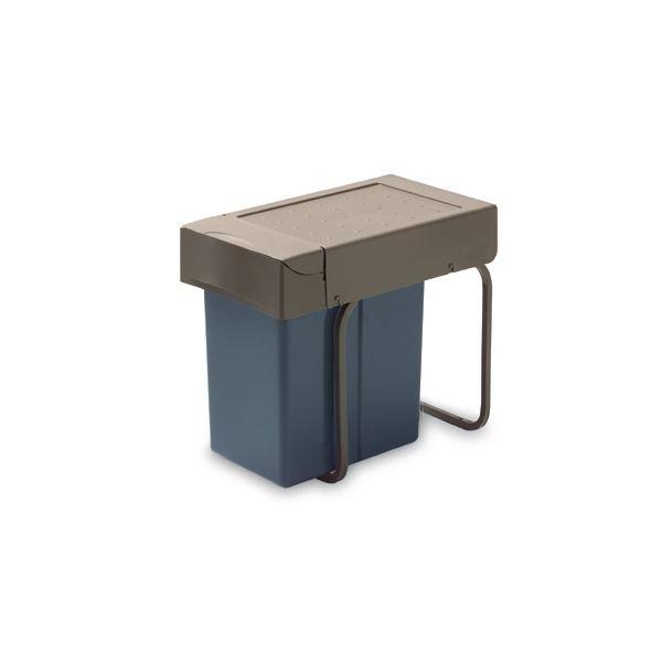 226.GA Ведро для мусора  выдвижной антрацит + поддон (21л.)