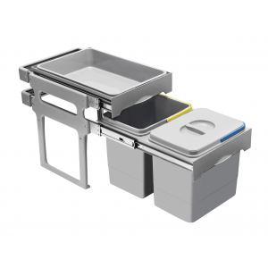 PB-90934100PCT Ведро для мусора Forza 2*16л