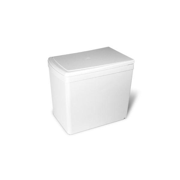 201.B3 Ведро для мусора (16л), пластик белый