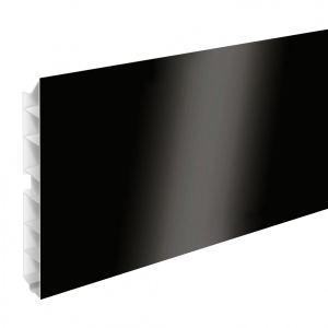 Цоколь кухонный пластиковый черный глянец  Н120
