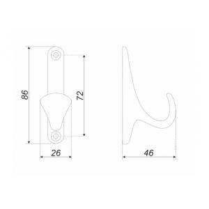 K102AB.2 (Крючок мебельный LUIS)