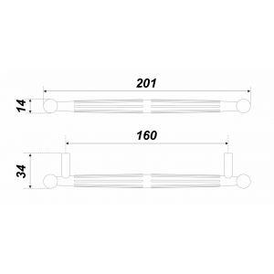RS308MBSN.4/160 (Ручка мебельная TILDA)