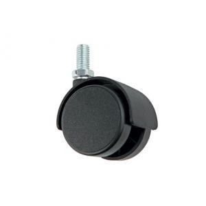 N111BL/BL.3 (Колесо мебельное, d=40мм, без тормоза, штифт М8*15)