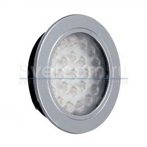 04.001.12.312 Светильник LED PLIUS-24, 2Вт, 12Вт 3000К, CMD283*24, 180Лм, сер