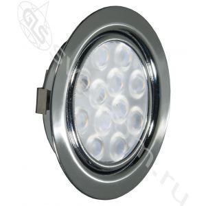 04.001.10.401 LED Replis-1   светильник мебельный встраиваемый, светодиодный 12V