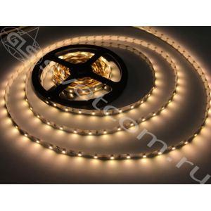 Лента светодиодная 3528 12В, 9,6Вт/м,600LED, IP20, КВ6000К, 5м*8мм, бел.осн.,3М 4-5Лм/pсs