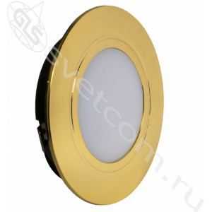 04.112.06.303 LED Polus (матовое стекло)   светильник мебельный врезной светодиодный 220V IP44