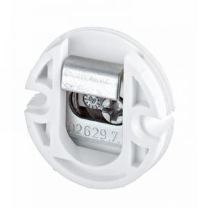 100079101 SAH 302,кругл навес для шкафов, нагрузочная способность 30 кг, пластик, белый