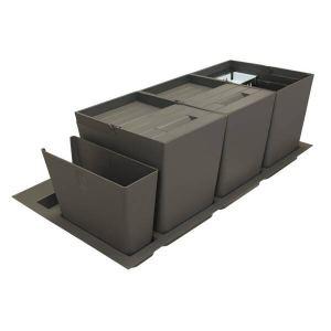 Система хранения в базу 900 (2 ведра+2 контейнера), отделка орион серый
