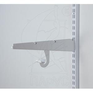 1811 Крючок для штанги 25 мм белый