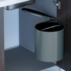 Ведро для мусора (11л), пластик орион серый