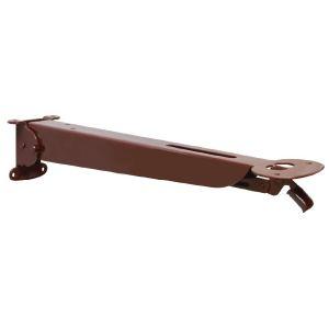Менсолодержатель складной с фиксатором, L=355мм, отделка коричневый