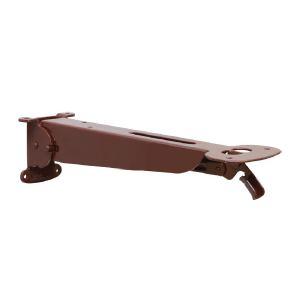 Менсолодержатель складной с фиксатором, L=280мм, отделка коричневый