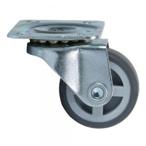 NF- 04 Колесо поворотное на площадке 30 мм серая резина
