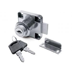 Замок мебельный №138 с планкой (простой ключ)