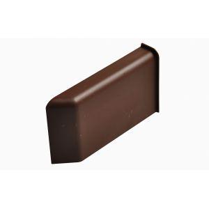 Декоративная крышка Scarpi-4 пластиковая, коричневая левая