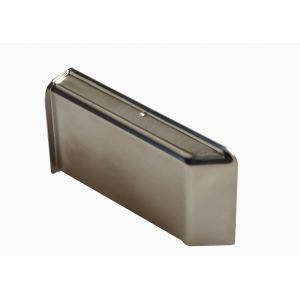 Декоративная крышка Scarpi-4 металлическая, покрытие никель левая