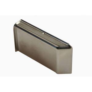 Декоративная крышка Scarpi-4 металлическая, покрытие никель правая