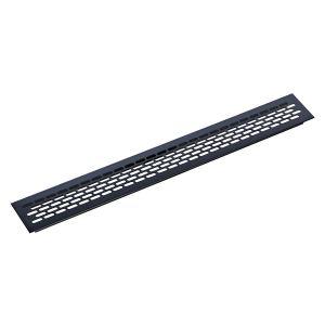 Решетка вентиляционная 480х60 мм, черная