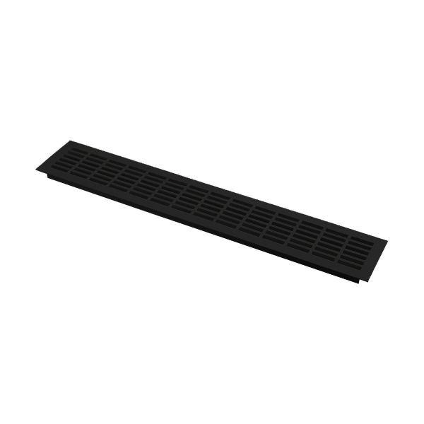 Решетка вентиляционная 480х80 мм, черная
