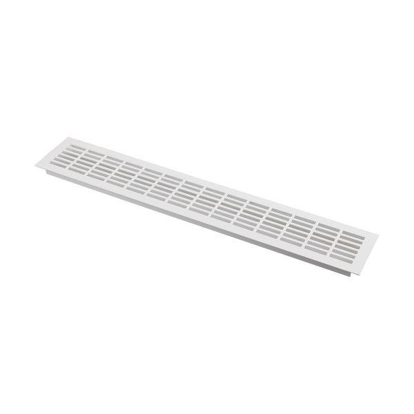 Решетка вентиляционная 480х80 мм, белая