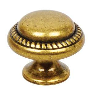 Винтажная ручка-кнопка Almeria, O28,2 мм, античная бронза Валенсия