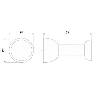 RC001CP.4 (Ручка-кнопка)хром