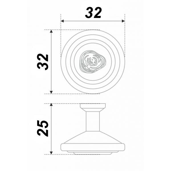 RC108BAZ.4/W (Ручка мебельная RC108BAZ.4/W)